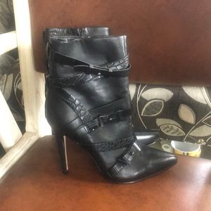 GUESS Black Ankle Booties, 6.5